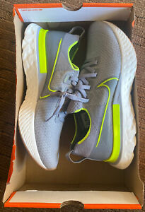 Size 12 - Nike React Infinity Run Flyknit Particle Gray Volt 2020
