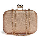 Women Lady Sparkling Glitter Chain Clutch Evening Party Shoulder Handbag Purse
