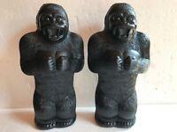 "Blow Mold Plastic King Kong Gorilla Bank Union Products 17"" Renzi Mold"