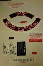 Red HZ 5.0 Litre Air Filter (FULL SET) 308 Engine Bay Dress Up Kit Sticker