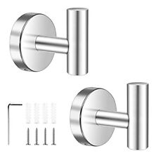 2 Pack Towel Hooks Sus304 Stainless Steel Coat Robe Clothes Hook Wall Mounted.