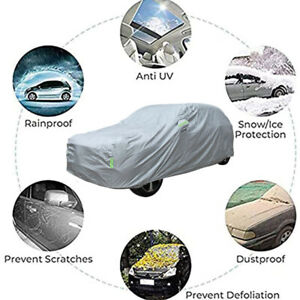 Full Car Cover taffeta 100% Waterproof Dust UV Resistant Outdoor Protection XL