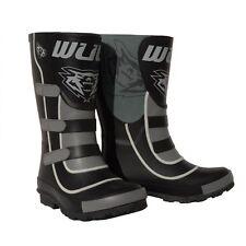 Wulf Mud Stomper Kids Wellington Waterproof BOOTS Quad Motocross Child Wulfsport Black Eu27