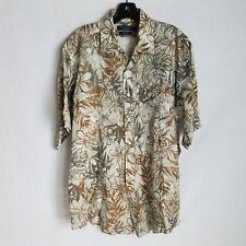 b1dd37f46 Daniel Cremieux Collection Mens 100% Linen Button Front S/S Shirt Large  SD923