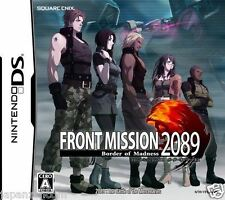 Used DS Front Mission 2089: Border of Madness NINTENDO JAPANESE IMPORT