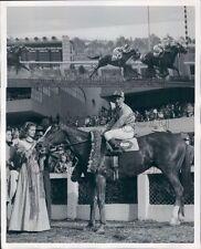 1946 Race Horses Tie Score Jackstraw Hipodromo Mexico F Fernandez Press Photo