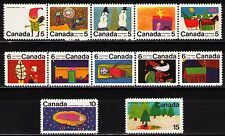 Canada 1970 Sc523a,28a,29-30 Mi462-73x 7.80 MiEu 2 str of 5+2v mnh Christmas