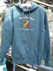 DIVIDED H&M Never Too Much dark green pullover sweatshirt hoodie size XS
