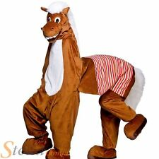 Adult 2 Man Panto Horse Costume Pantomime Fancy Dress Mens Animal Mascot Outfit