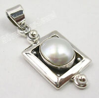 "925 Solid Silver Beautiful AAA FRESH WATER PEARL ASTONISHING Pendant 1.3"" NEW"