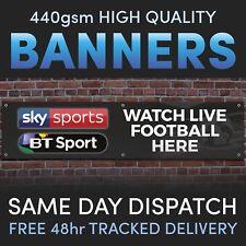 Sky BT Sports LIVE FOOTBALL Vinyl Banner - Great Advertising Pubs or Bars Social
