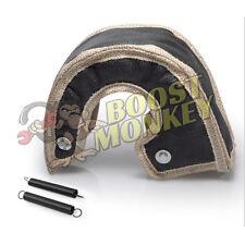 Black Turbo Heat Shield Blanket Wrap Borg Warner S200 S200sx twin scroll open