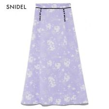 NWOT Snidel Purple Floral Skirt Size S Original $195 French Style Silk Feeling