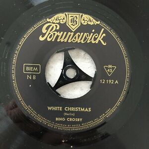 BING CROSBY: White  Christmas / Silent night (Single Brunswick 12 192 / NM)