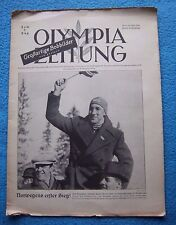Orig.PRG / Newsletter  Olympic Games G.PARTENKIRCHEN 1936  -  7.Day // 12.02. !!