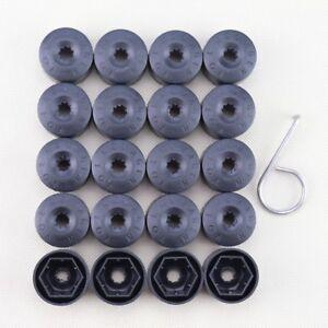 For VW Volkswagen Wheel Lug Nut Bolt Cover Caps Set of 20 OEM 1K06011739B9 Black