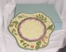 PartyLite Garden Lites Candle Garden Tray Cheery Yellow Green Red P8096