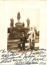 CESAR VEZZANI opera tenor rare signed photo with a little friend, 1934