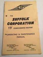 """sif SUFFOLK 19"""" CORPORATION POWER MOWING MACHINE LAWN MOWER OWNERS MANUAL"""