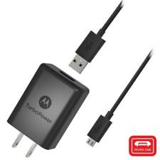 Motorola TurboPower 15+ QC3.0 Wall Charger & Micro USB Cable for Moto G5+/G5S