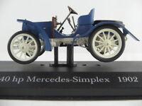 Altaya #35 40 hp Mercedes-Simplex (1902-1910) in blau 1:43 NEU/PC-Vitrine