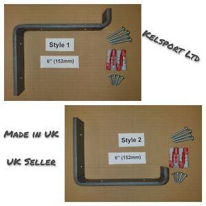 Heavy Duty Steel Scaffold Board Rustic Shelf Brackets 152mm 6inch Made in UK