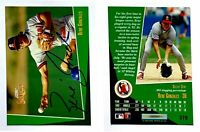 Rene Gonzales Signed 1993 Select #379 Card California Angels Auto Autograph
