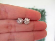 .80 CTW Diamond Earrings 18k White Gold E355 sep