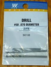 """Walthers #947-50 (2 in pkg) #50 .070"""" Dia (Dril Bits)"""