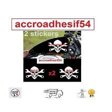 2 stickers autocollant harley davidson skull sportster  reservoir moto custom ++