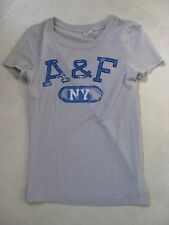 Abercrombie & Fitch T-Shirt / Top / Gray Blue White / Med / NEW