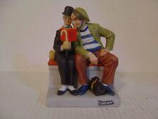 "1980 Norman Rockwell Porcelain Figurine ""The Interloper"" The Danbury Mint"