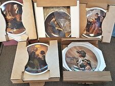 5 Norman Rockwell Mother'S Day Plates w/Box Coa's 1977-78-79-80-81 Faith Bedtime