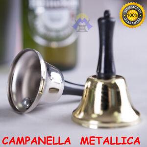 CAMPANELLA in METALLO colore ORO Lucido RECEPTION bar DA BANCO Cucina CAMPANA