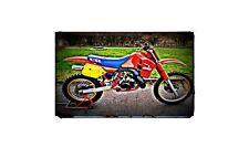 1987 honda cr500 Bike Motorcycle A4 Photo Poster