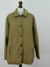 BARBOUR Tailored Flyweight Tan Quilt Jacket size 18