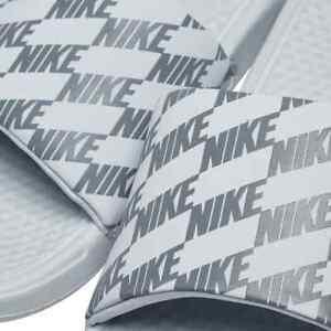 Nike Benassi JDI Printed Branding Slides Men's Slip On Beach Pool Unisex Sandals