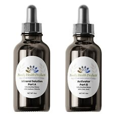 Water Purification Solution - Chlorite (NaClO2) and Citric Acid 4 oz bottles