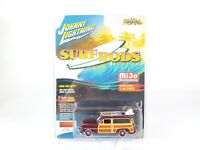 Johnny Lightning SURF RODS Burgandy 1950 Mercury Woody Wagon BRAND NEW NOC