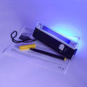 Ultra violet black light lamp & torch Blacklight UV Security Property marker pen