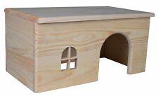 Trixie Flat Wooden Tortoise Rabbit Guinea Pig Hamster Pet Hideaway House Large - 61263