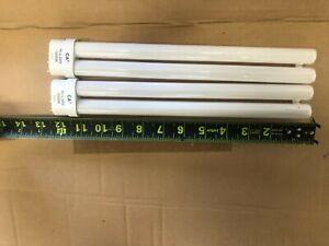 """24 W Power Compact Aquarium Bulbs STRIGHT PIN 12"""" 2 bulbs FREE SHIPPING"""