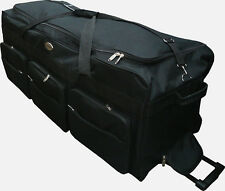 "42"" Rolling Wheeled Tote Duffle Bag Luggage Travel Duffle Suitcase - Heavy Duty"