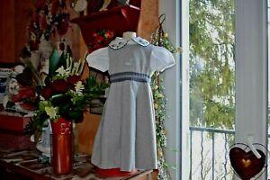robe tartine et chocolat  6 ans doublee 20% laine chaude+chemisier g marque offe