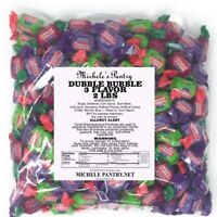Concord Original Wrapped Dubble Bubble Gum, 2 Lbs 3 Flavor