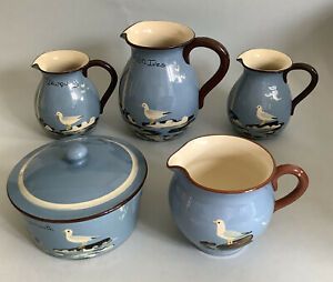 Babbacombe Pottery, Torquay Ware Hand Painted Flying Seagulls Job Lot X5