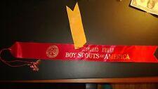 "Vintage 1960s Boy Scouts America ""STANDART AWARD"" 23 1/2"" Red Ribbon & District"
