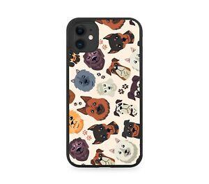Novelty Dog Breeds Pattern Design Rubber Phone Case Cover Doggos Doggo Dogs E705
