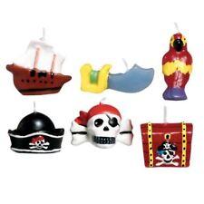 Pirata Fiesta Mini Moldeado pastel de cumpleaños para niños velas barco Calavera Sombrero loro