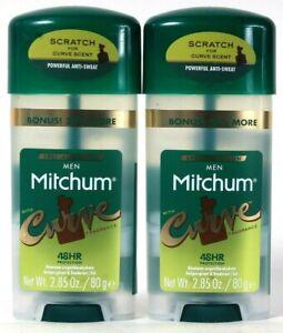 2 Mitchum Men 2.85 Oz Special Edition Curve Fragrance Antiperspirant Deodorant